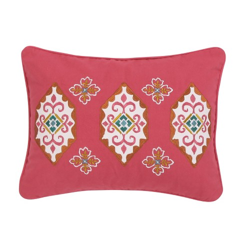 14x18 Saskia Medallion Pillow Coral - Mudhut - image 1 of 3