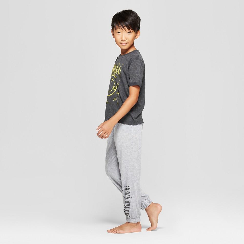 Boys' Nirvana 2pc Pajama Set - Charcoal/Gray S