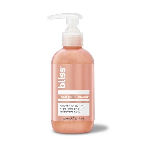 Bliss Rose Gold Rescue Gentle Foaming Cleanser For Sensitive Skin - 6.4 fl oz - image 1 of 4