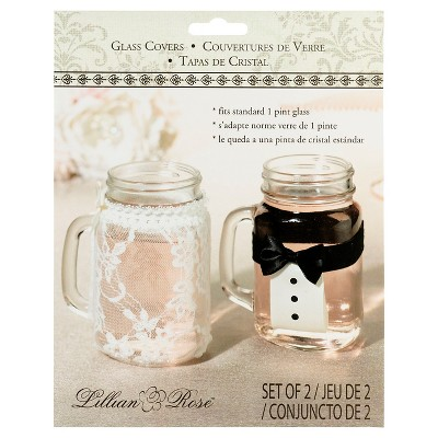 Bride and Groom Glass Covers