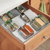 mDesign Expandable Plastic Spice Rack Drawer Insert, 3 Tiers - image 3 of 4