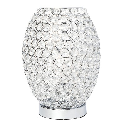 Elipse Crystal Decorative Curved Accent Uplight Table Lamp Chrome - Elegant Designs