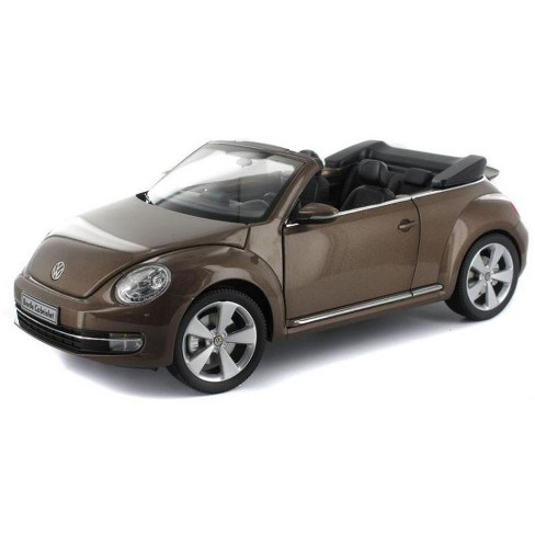 Volkswagen New Beetle Convertible Toffee Brown Metallic 1/18 Diecast Car Model by Kyosho - image 1 of 1