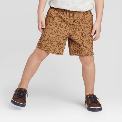 Toddler Boys' Pull-On Shorts - Cat & Jack™ Brown 12M