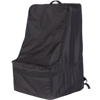 Black Children's Car Seat Travel and Storage Backpack Bag