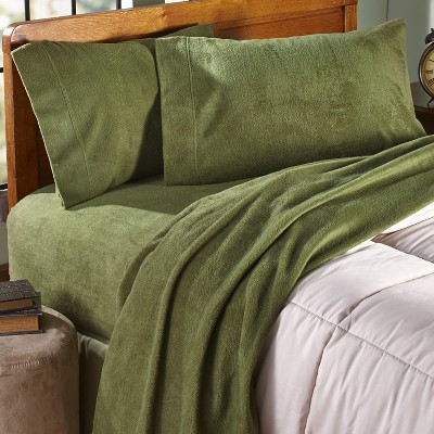 Lakeside King Fleece Bedding Sheet Set with Matching Pillow Cases - 4 Pieces