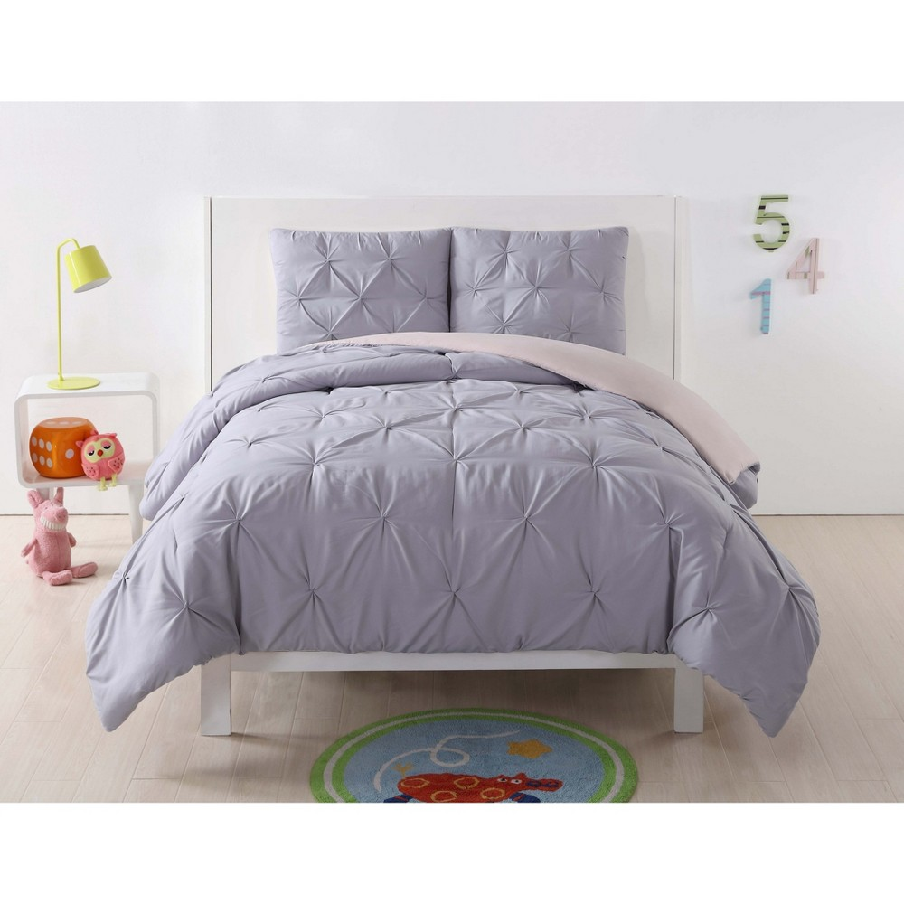 Image of Full/Queen Anytime Pleated Duvet Set Lavender/Blush - My World
