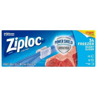 Food Storage Bags: Ziploc Slider Freezer