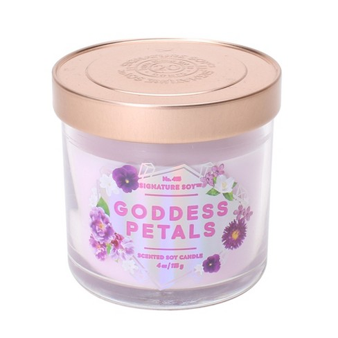 4oz Lidded Glass Jar Candle Goddess Petals - Signature Soy - image 1 of 1