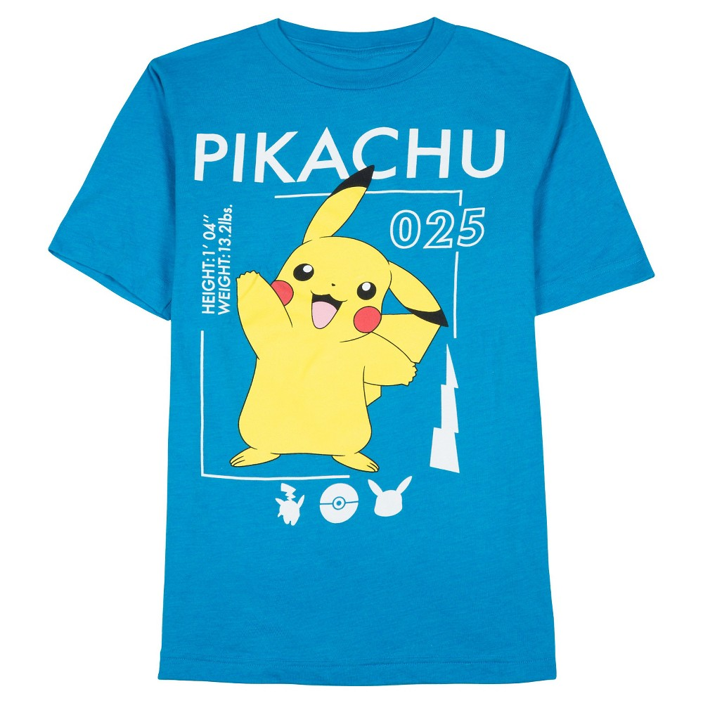 Boys' Pokémon Pikachu 025 Graphic T-Shirt Blue - L