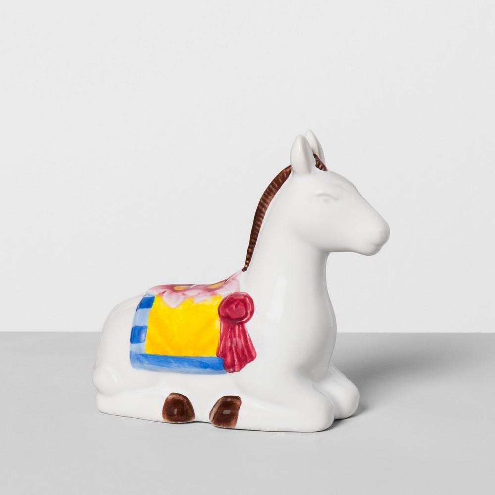 Image of Donkey Stoneware Pepper Shaker White - Opalhouse