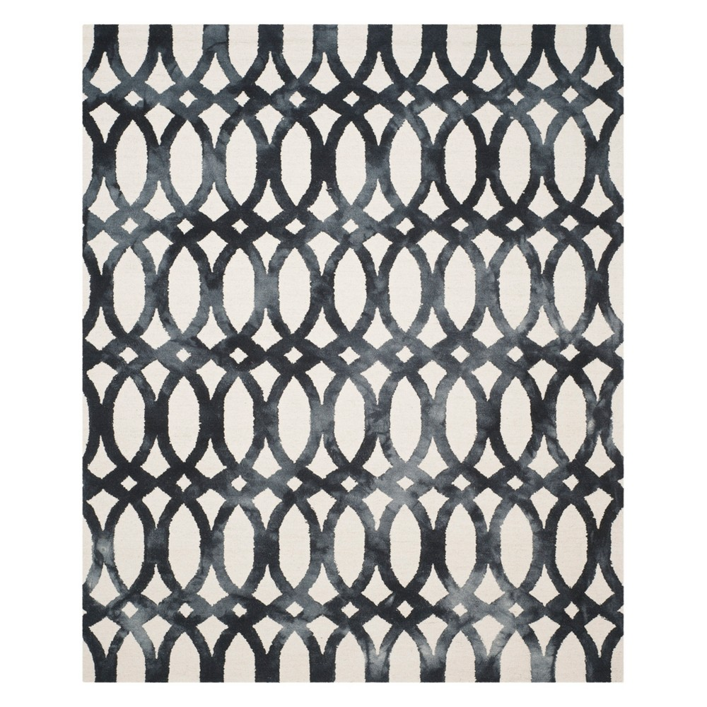 Geometric Area Rug Ivory/Graphite