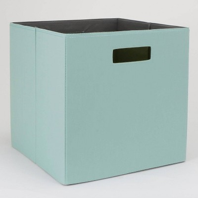 "13"" Fabric Cube Storage Bin Teal - Threshold™"