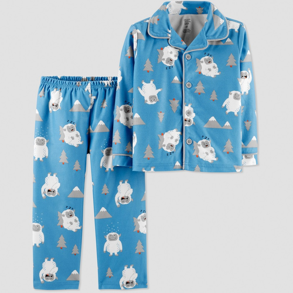 Toddler Boys' Yeti Coat Pajama Set - Just One You made by carter's Blue 2T