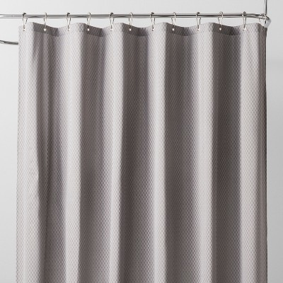 Basket Weave Shower Liner Sleek Gray - Made By Design™