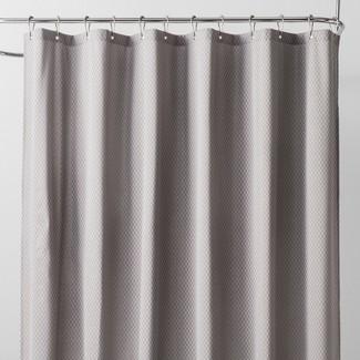 Basket Weave Shower Liner Sleek Gray - Made By Design™