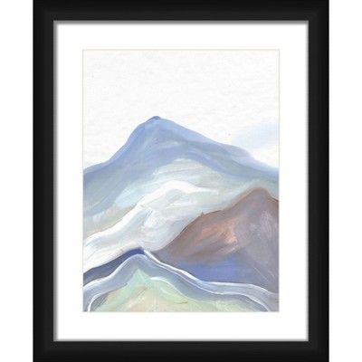 """18"""" x 22"""" Matted to 2"""" olorfull Mountain Picture Framed Black - PTM Images"""