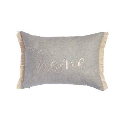 """14""""x20"""" Oversize Serena Home Lumbar Throw Pillow Gray - Sure Fit"""