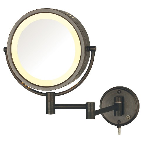 "Jerdon 8X-1X Halo Lighted Wall Mount Mirror Extends 13.5"" Bronze - image 1 of 1"