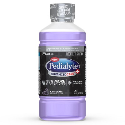 Pedialyte AdvancedCare Plus Electrolyte Solution - Iced Grape - 1 L