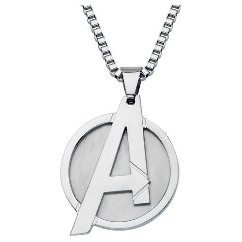 "Men's Marvel® The Avengers Logo Stainless Steel Pendant with Chain (24"") - image 1 of 2"