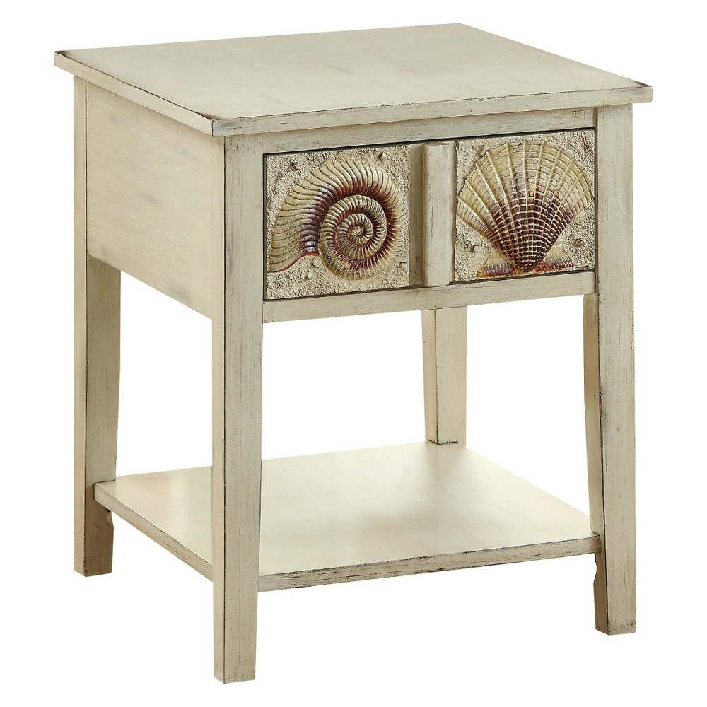 Christopher Knight Home Surfside Accent Table Cream