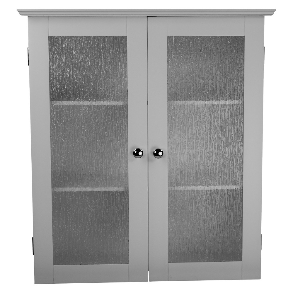 Connor 2 Door Wall Cabinet White - Elegant Home Fashions