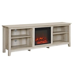 "70"" Modern Media Storage TV Stand with Electric Fireplace - Saracina Home"