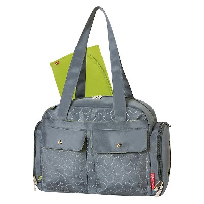 Fisher-Price Diaper Bag Gray Circles