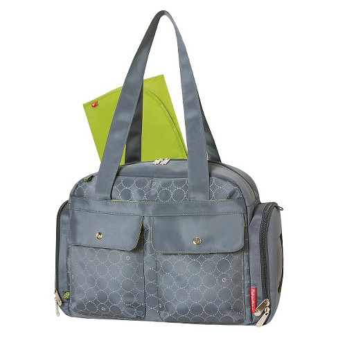 Fisher-Price Diaper Bag Gray Circles - image 1 of 5