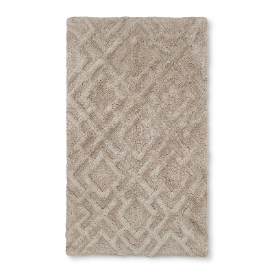 34 x20  Tufted Lattice Spa Bath Rug Tan - Fieldcrest®
