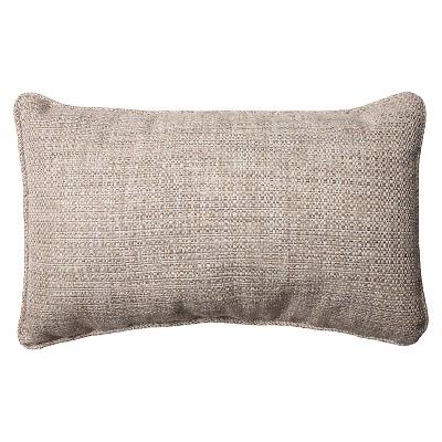 Pillow Perfect Tweak Mica Rectangular Throw Pillow - Gray (18.5x11.5 )