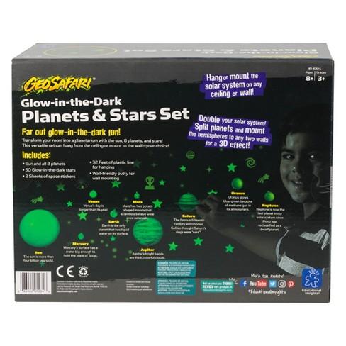 Educational Insights GeoSafari Glow-in-the-Dark Planets & Stars Set