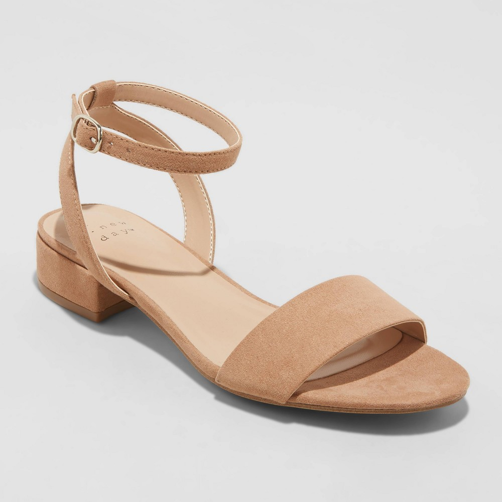Women 39 S Winona Wide Width Ankle Strap Sandals A New Day 8482 Taupe 6 5w