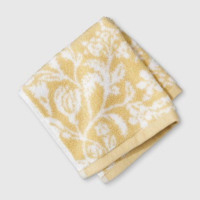 Performance Texture Washcloth Yellow Floral - Threshold™