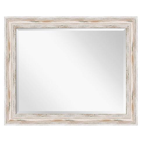 Rectangle Alexandria Decorative Wall Mirror Whitewash - Amanti Art - image 1 of 4