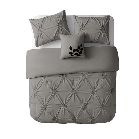 Queen London Quilt Set Gray - VCNY Home - image 1 of 2