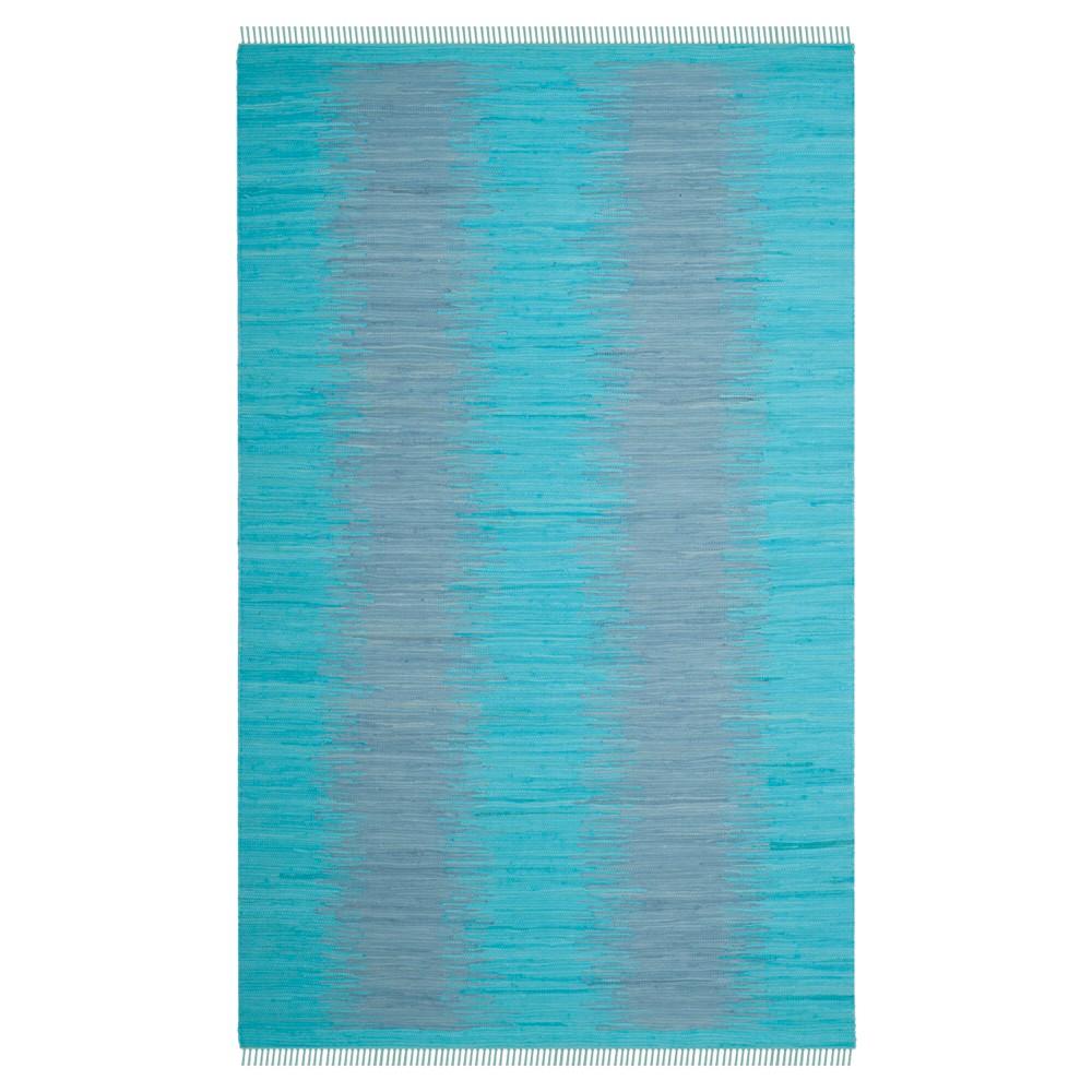 Turquoise Geometric Flatweave Woven Area Rug 5 X8 Safavieh