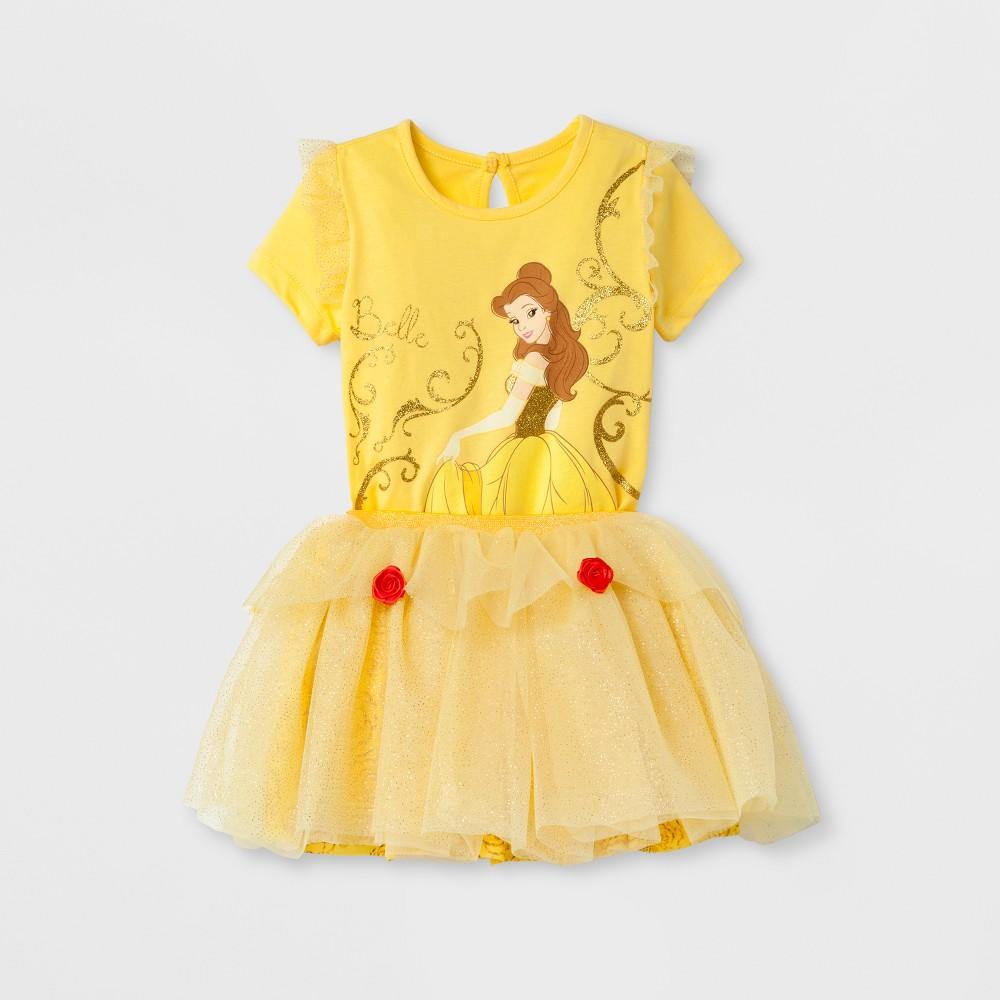 Toddler Girls' Belle Top And Bottom Set - Disney Princess Yellow 12M