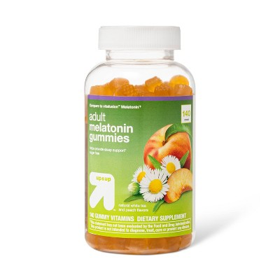 Adult Melatonin Gummies - White Tea/Peach - 140ct - up & up™