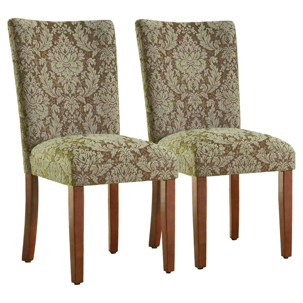 Parsons Pattern Dining Chair Wood (Set of 2) - HomePop, Damask