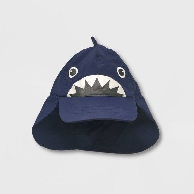 Toddler Boys' Shark Swim Hat - Cat & Jack™ Navy 12-24M