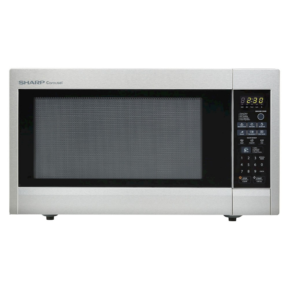 Sharp 2.2 Cu. Ft. 1200 Watt Microwave Oven - Stainless Steel R651ZS, Silver