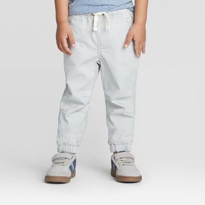 Toddler Boys' Knit Chino Jogger Pants - Cat & Jack™ Gray 12M