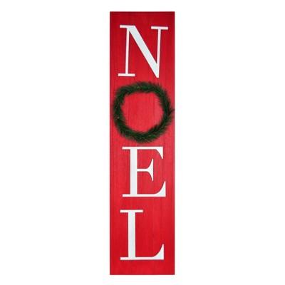 Noel Wood Sign Deep Red - Threshold™