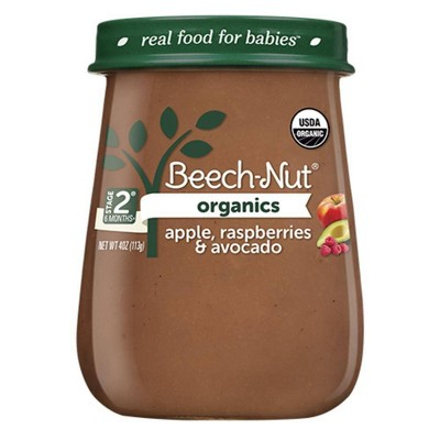 Beech-Nut Organics Apple, Raspberry & Avocado Baby Food Jar - 4oz