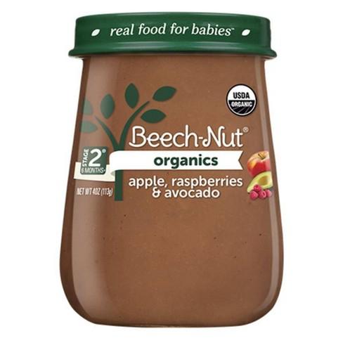 Beech-Nut Organics Apple, Raspberry & Avocado Baby Food Jar - 4oz - image 1 of 3