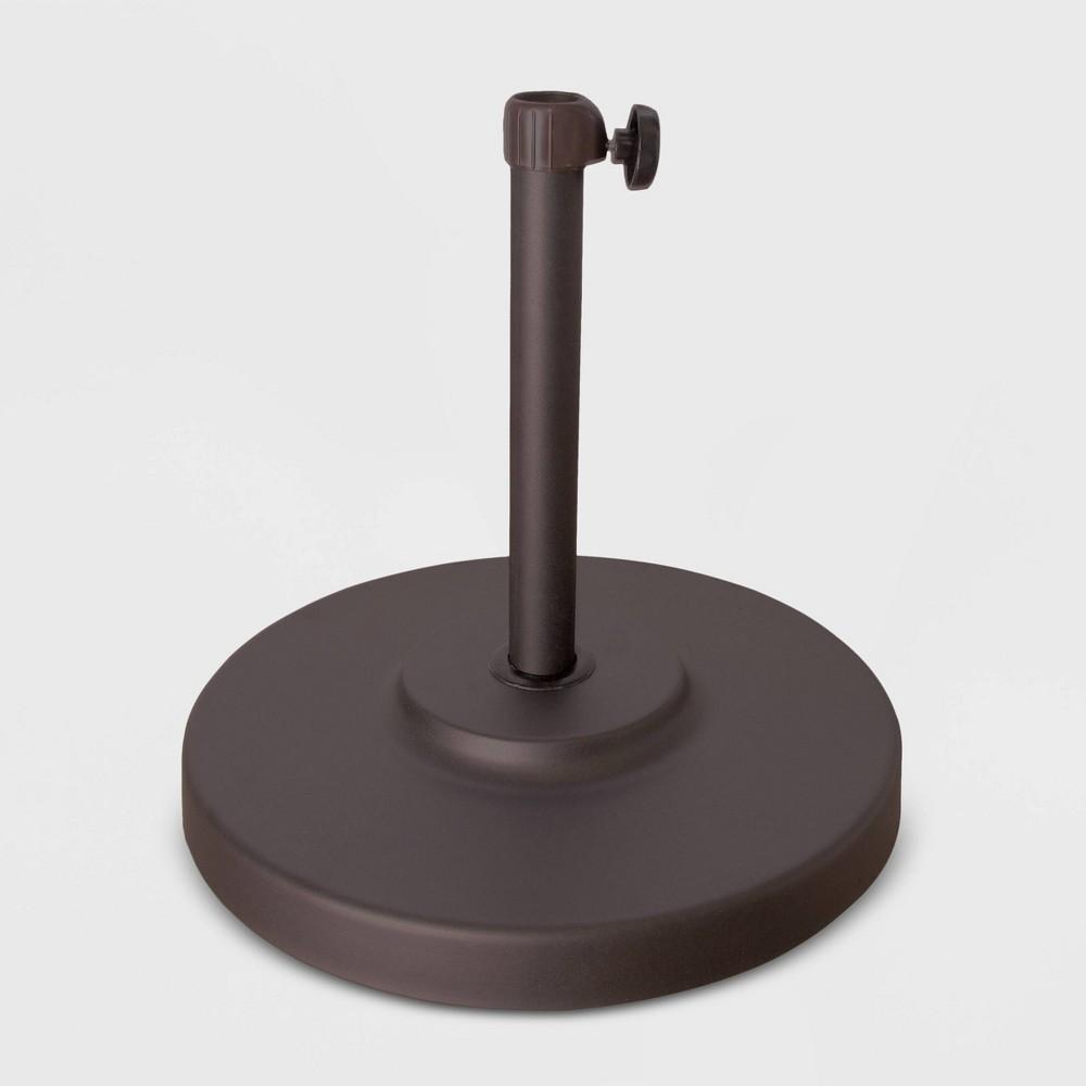 50lb Concrete Umbrella Base with Steel Cover Bronze - California Umbrella