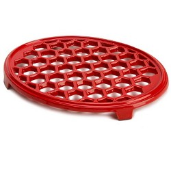 "Cast Iron Trivet For Wood Stoves, 10.5 X 7.5"", Red - Plow & Hearth"