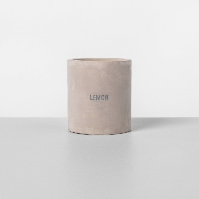 9.3oz Cement Candle Lemon - Hearth & Hand™ with Magnolia